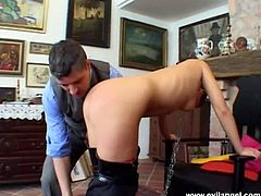 Two men makes awesome sandwich with hot lady
