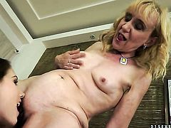 Blonde Tina Blade gets her love hole licked by Nanney in lesbian action for your viewing entertainment