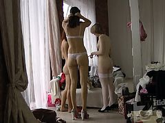 Voyeur video from casting models.