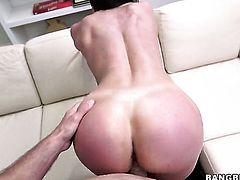 Kendra Lust with big booty is on the edge of nirvana with dudes rock solid schlong in hands