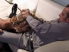Jessica Drake is having sex in office