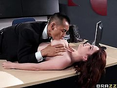 Keni Styles is horny as hell and cant wait no more to drill glammed up Ashley Grahams cunt with his throbbing snake