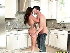 Brunette Gavin Kane is horny as hell and sucks dudes erect rod with wild enthusiasm