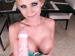Blonde Phoenix Marie is in the mood for pussy rubbing