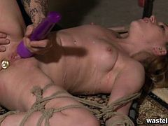 Pretty sex slave gets her pussy fucked