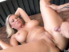 Devon Lee is never enough and takes guys stiff meat stick in her mouth again