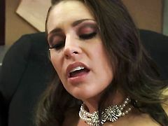 Gracie Glam gets the mouth fuck of her dreams with hard dicked fuck buddy