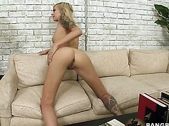 Blonde Emma Mae cant wait to be fucked by her horny guy