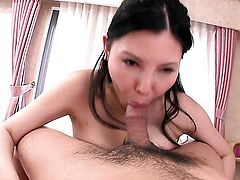 Milf Sofia Takigawa with gigantic boobs is good on her way to make horny guy explode in hardcore action