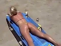 MILF FROM SEXDATEMILF.COM Take a Facial on the Beach