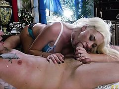 Clover gets pleasure from fucking in her hot mouth
