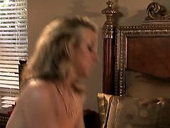 Carolyn Reese is in a gonzo video. The blonde pornstars is on top of the guy and she is sucking him off. Then later on we get to see her spooned. She likes that.
