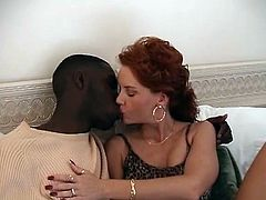 Wife with young black lovers in her marital bed