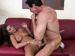 Peter North explores the depth of extremely hot Whitney Westgates throat with his fuck stick