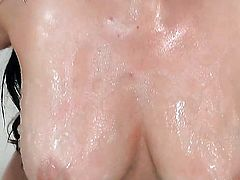 Taylor Vixen with juicy melons and shaved bush with moist wet spot goes solo