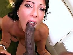 Sex starved babe Zoey Holloway with sexy butt and neatly shaved pussy loves getting her hole attacked by big black cock. Dark monster cock brings her to the edge of nirvana!