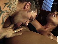 Jenaveve Jolie has a good time playing with cum loaded dick