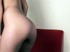 Lustful porn girl Angel Kiss plays with her soaking wet honeypot as she has fun alone on cam