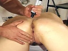 Stuffing her pretty face with cock, she is quick to get down on all fours and raise her ass to invite her horny stud in for a ride. Impaled on a hardthrusting prod, she bucks and backs into the thick joystick, then surrenders and lets him plow her mercilessly as she groans in stunned delight.