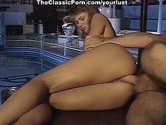 Desirable and vivacious hottie is getting fucked by the pool