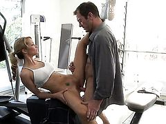 Jessica drake knows no limits when it comes to sucking her fuck buddys meat stick