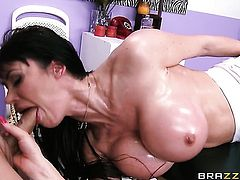 Mick Blue shows nice anal tricks to Eva Karera with the help of his erect dick
