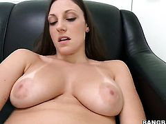Brunette is playing with her pussy