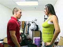 Bethany Benz makes mans sexual fantasies come true with her help of her skillful hands