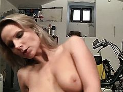 David Perry makes scream and shout with his erect love torpedo in her bum hole before she gives deep blowjob
