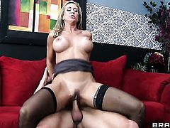 Hot bodied doll Brandi Love with giant tits makes her sex dreams a reality with her horny bang buddy