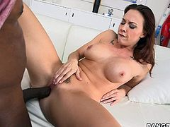 Chanel Preston loves getting drilled by Mandingos big black cock. 3 year old brunette with nice breasts gives interracial throat job on her knees then gets naked and open her legs for interracial pussy stuffing.