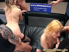 extreme hot german groupsex bukkake fuck orgy with two cute horny amateur girls