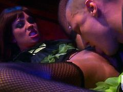 Kirsten Price has a great time playing with cum loaded dick