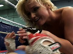 Blonde minx Angell Summers with giant jugs and Kathia Nobili are so fucking horny in this girl-on-girl action