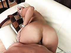 Bridgette B with gigantic breasts gets ploughed to orgasm by Will Powers