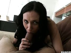 Brunette whore Bella Blaze with phat bottom gets humped literally to death