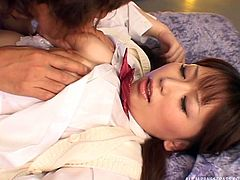 She opened up her legs for me and I buried my face deep in her snatch. This sexy Japanese schoolgirl was so turned on by the way I performed cunnilingus on her. The taste of her pussy juice on my tongue was so memorable.