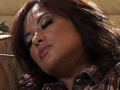 Yummy hottie Kaylani Lei has blowjob experience of her lifetime with hard cocked dude