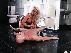 Johnny Sins explores the depth of playful Alura Jensons throat with his boner