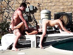Kimber Kay gets her mouth destroyed by stiff meat pole
