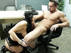 Johnny Castle cant resist hot Audrey Bitonis acttraction and bangs her like crazy