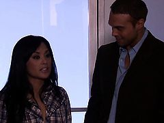 Kaylani Lei does lewd things and then gets covered in cum