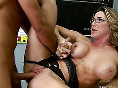 Keiran Lee cant resist hot blooded Kayla Paiges attraction and fucks her mouth like theres no tomorrow