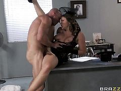 Johnny Sins cant resist breathtakingly beautiful Chanel Prestons acttraction and bangs her like crazy