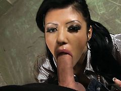 Amanda Black and horny dude have a lot of fun in this blowjob action