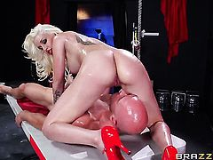 Johnny Sins loves cute Stevie Shaes amazing body and fucks her mouth as hard as possible