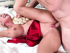 Leya Falcon with huge boobs is an anal addict who is ready to spend hours fucking non-stop with Jordan Ash
