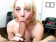 Blonde gal Missy Mathers with small breasts cant live a day without getting her soft hands fucked