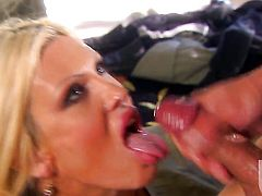 Michelle McLaren sucks like a first rate hoe in steamy oral action with horny guy