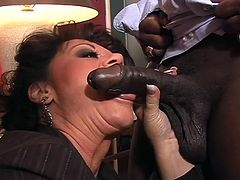 If you like seeing black guys and white chicks, but are looking for something more mature in a way, then this might be a bit more for you. The races and genders are the same, but the age of this woman is beyond milf. Debella is quite a bit older, but she still savors the taste of a cock in her mouth.